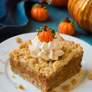 Pumpkin Pie Crumb Bars.