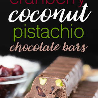 Cranberry Coconut Pistachio Chocolate Bars Recipe