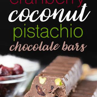 Cranberry Coconut Pistachio Chocolate Bars.