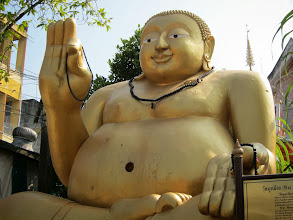 Photo: Not a typical Thai Buddha (more Chinese)