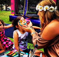 Photo: Tess painting at Birthday party in Bellflower, Ca. Call to Book Tess at 888-750-7024