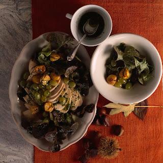 Herbstlicher Salat mit Kastanien