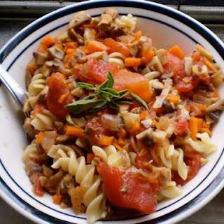 Mushroom 'Bolognese'.