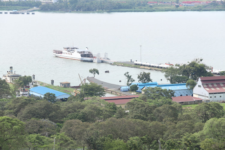 An aerial view of Kisumu Port/