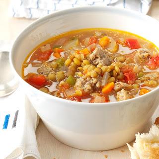 Sausage Lentil Soup Recipe
