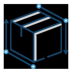 icon box dimensions