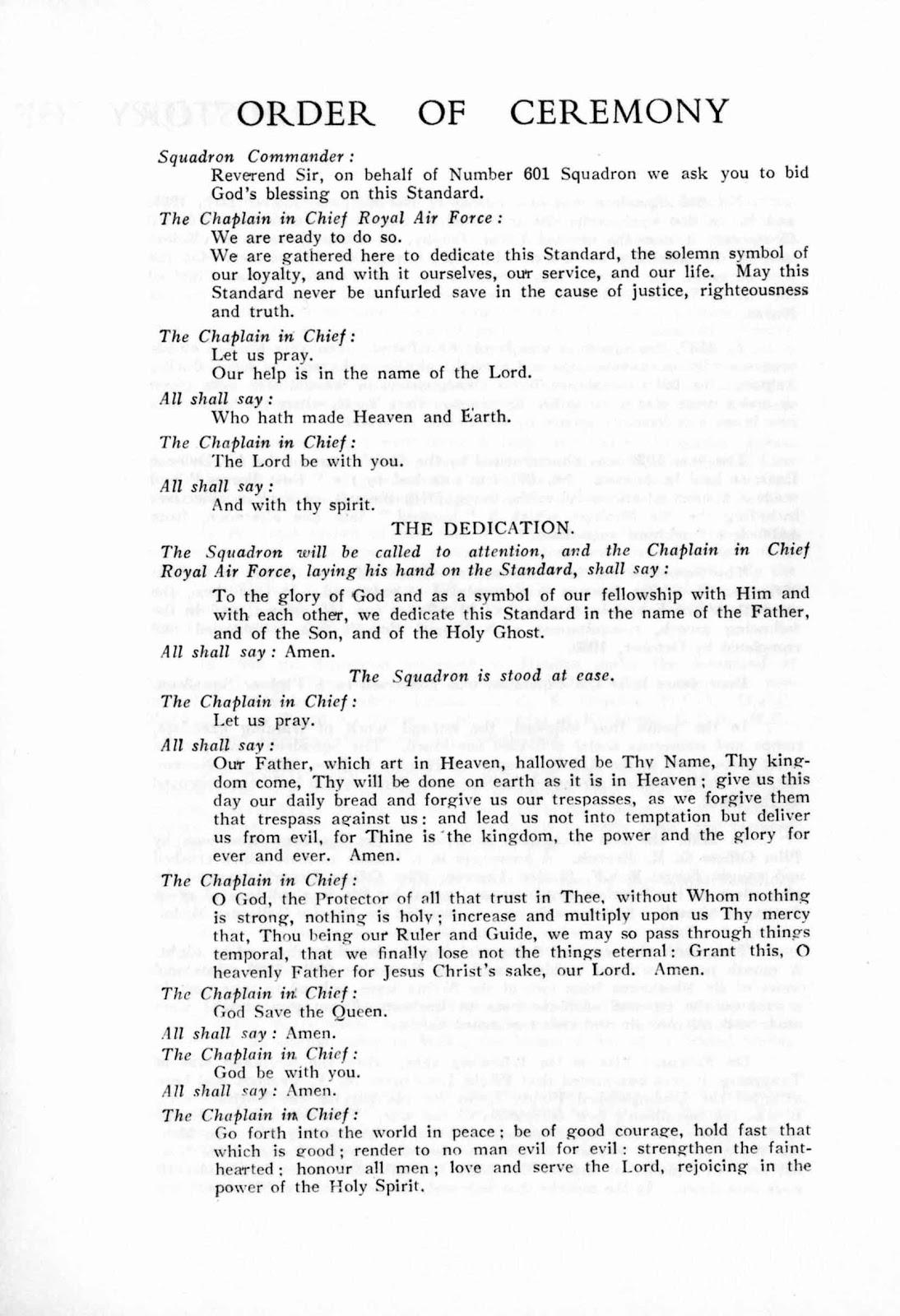 601 Squadron Standard programme 7