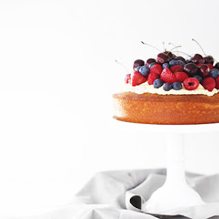 Butter Cake with Whipped Cream & Seasonal Berries.