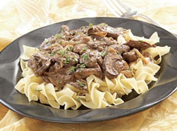 Beef Tenderloin Stroganoff With Cremini Mushrooms Recipe
