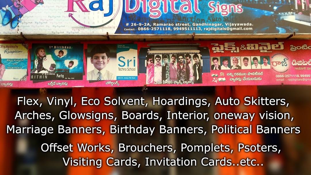 Raj Digital Signs Banner Offset Printers Store In Vijayawada