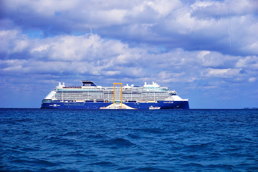 31.jpg - Celebrity Edge in all her glory anchored off the coast of Grand Cayman.