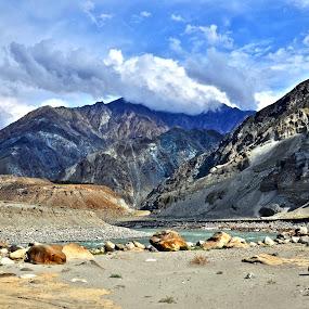 Hills of KKH - Pakistan by Assam Khan - Landscapes Mountains & Hills ( clouds, pakistan, mountain, gilgiit, landscape )