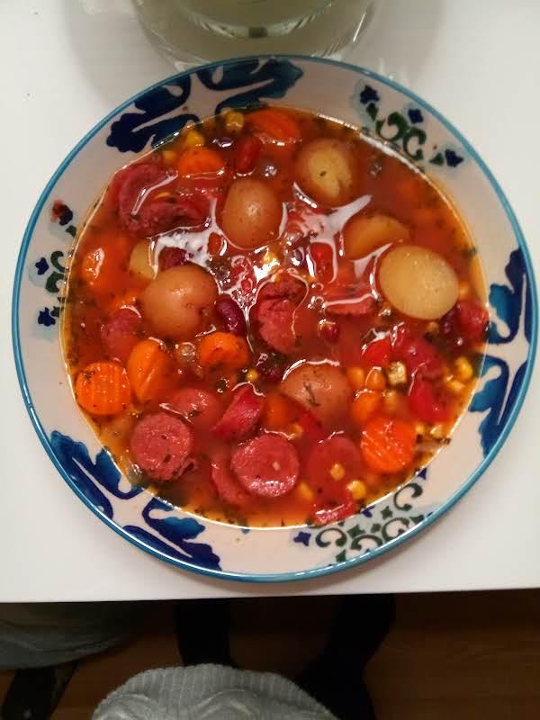 Savoury Sausage Vegetable Soup Recipe