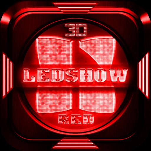 Next Launcher Theme LedShowRed