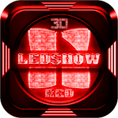 Next Launcher Theme LedShowRed