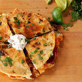 Quesadillas with Shrimp and Peppers Recipe