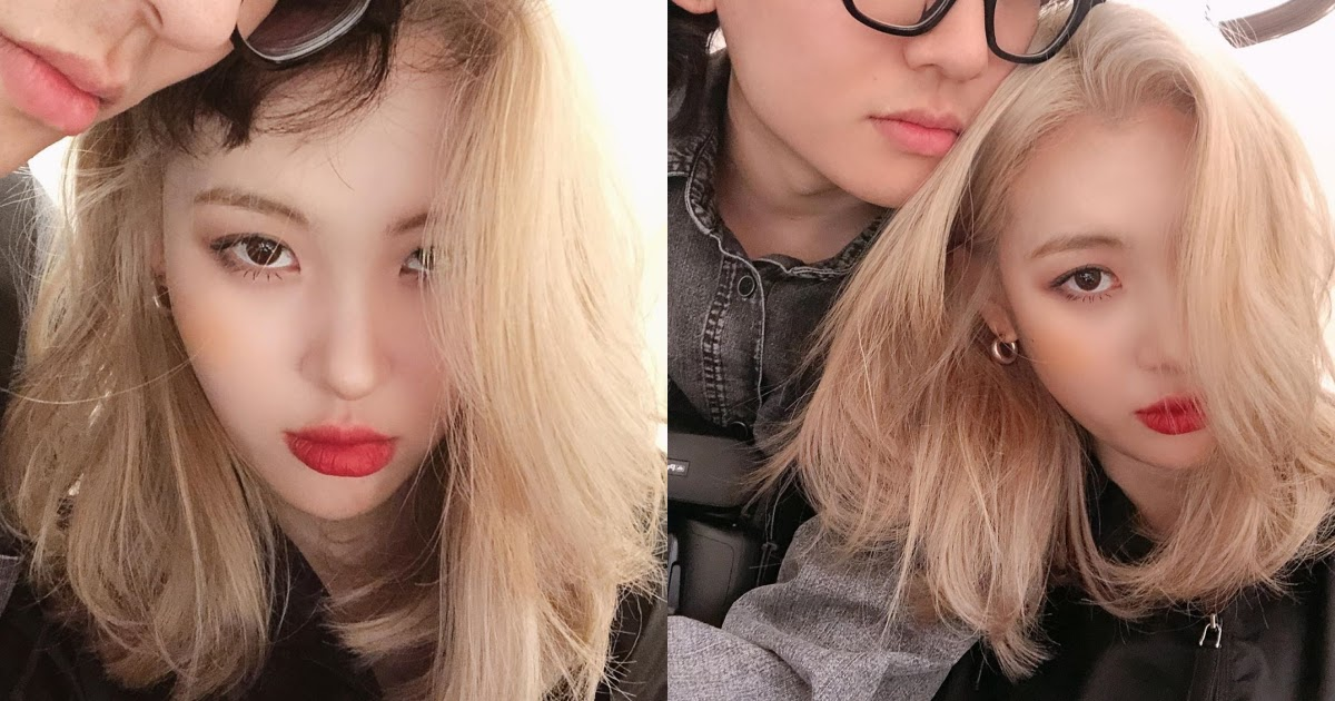 Sunmi Posts New Photos Of Herself With Her Younger Brother And No ...
