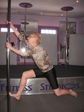 Photo: Iris Aged 72yrs doing vertical pole gymnastics - Monkey Pole Climbing!