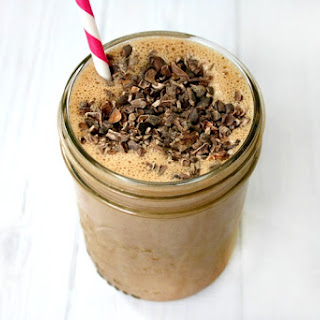 Clean Eating Chocolate Peanut Butter Protein Smoothie (Vegan, Gluten-Free, Dairy-Free, No Refined Sugars)