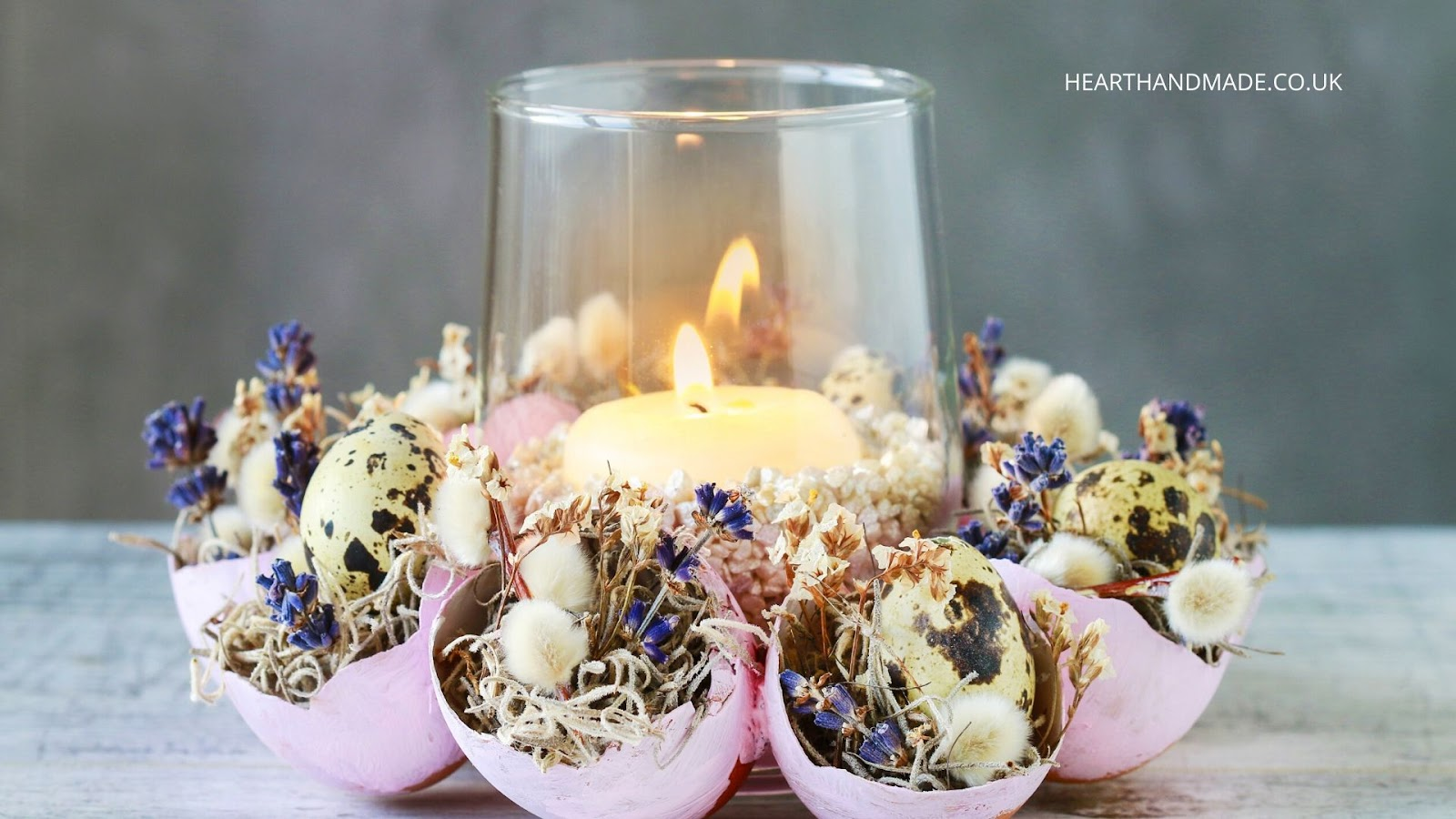How to make an eggshell table centrepiece