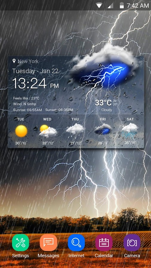 Screenshots of Real-time weather display for iPhone