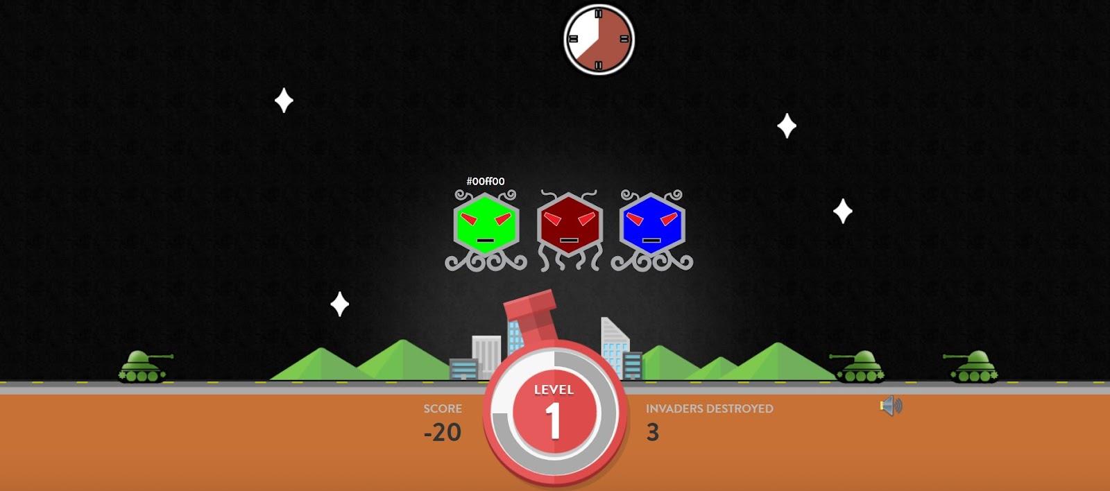 Скриншот игры Hex Invaders