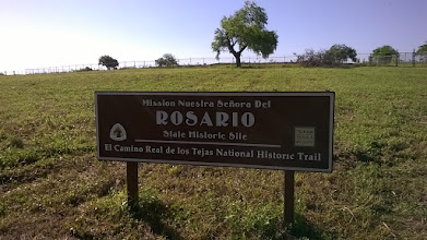 Photo: Site of Mission Rosario, 4 miles west of Goliad on 59 - NPS signage