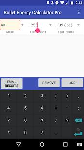Bullet Energy Calculator Pro - náhled