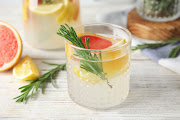 Citrus and rosemary G&T.