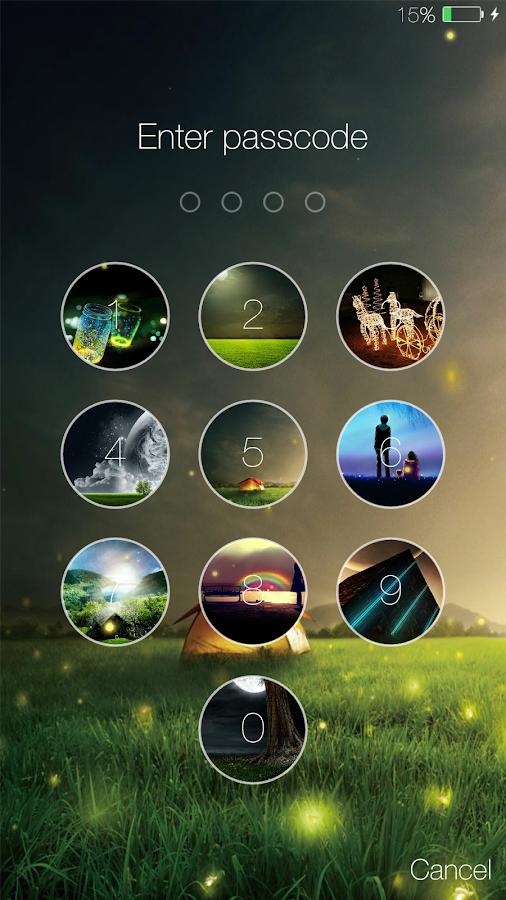 Screenshots of Fireflies lockscreen for iPhone