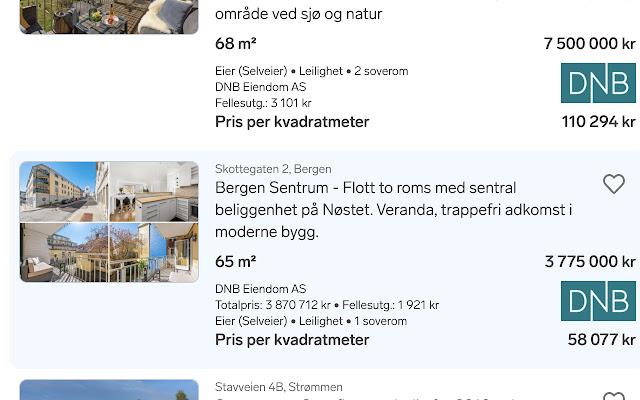 Finn Pris-per-kvadratmeter