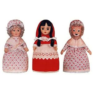 Set Papusa 3 in 1: Scufita Rosie - Lupul - Bunicuta