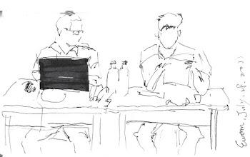Photo: 桃少輔成長營之分工合作2011.07.28鋼筆畫 成長營的志工們各司其職,一起打拼!