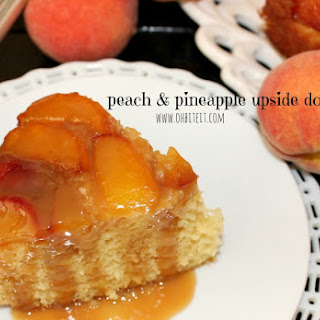 ~Peach & Pineapple Upside Down Cake!