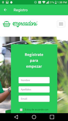 Mercadoni Pilotos ShopperApp  screenshots 1