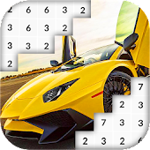 Color by Number: Fast Car Pixel Art icon