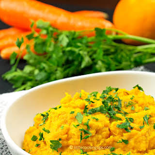 Delicious Mashed Carrots Side.