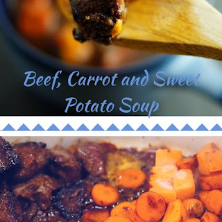 Paleo Beef, Carrot and Sweet Potato Soup- Sweet, Spicy and Smokey