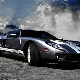 Ford GT by JEFFREY LORBER - Transportation Automobiles ( rust 'n chrome, sports cars, jeffrey lorber, coupe, lorberphoto, ford, gt )