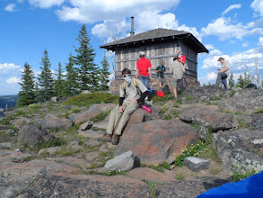 Photo: at the top next to the observation hut