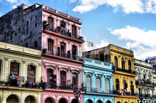 Classic Cuban apartment dwellings in Havana.
