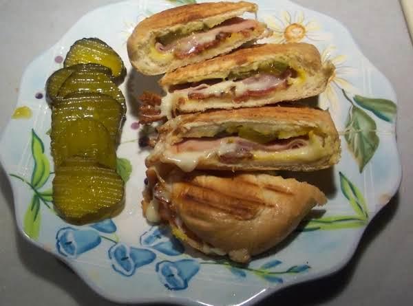 Cuban Sandwich Ham &  Cheesew/ A Shandy Beverage