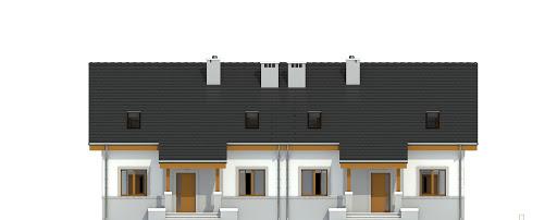Gajówka bez garażu bliźniak B-BL2 - Elewacja przednia
