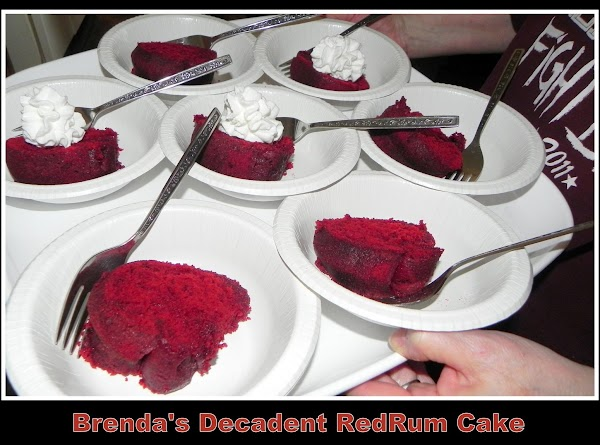 A friend of mine offered to bring a RedRum cake and that is what...