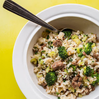 Stir Fried Rice with Pork and XO Sauce.