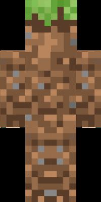 A grass block man