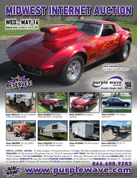 Photo: Midwest Auction May 16, 2012 http://purplewave.co/120516