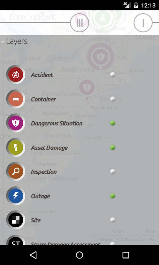 1st Incident Reporting- screenshot