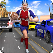 American Football Player Traffic Racer