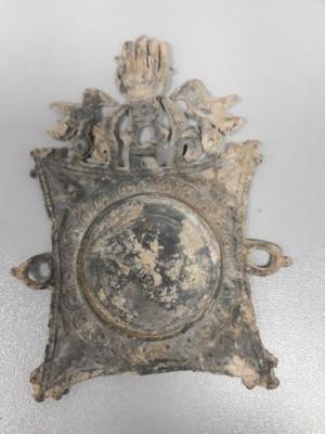 Hamsa o mano de Fátima localizada junto al Castillo de Tabernas